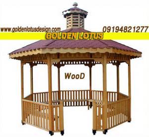 آلاچیق، پرچین و انواع سازه چوبی محوطه
