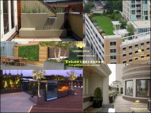 طراحی و اجرای روف گاردن،بام سبز، باغ بام