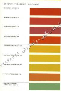 پیگمنت بایفروکس آلمان،سیمان رنگی،آسفالت