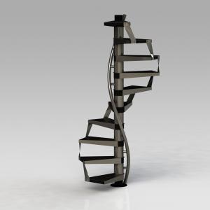 طراحی، ساخت و نصب انواع پله های گرد با قابلیت مونتاژ در محل