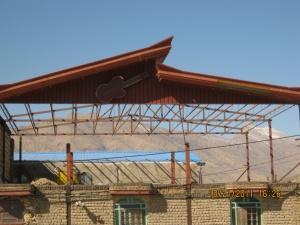 اجرای سقف-پوشش سقف-سوله-خرپا-اجرای شیروانی-آردواز