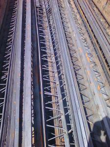 اجرا و تولید تیرچه کرومبت فلزی بتونی