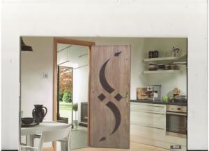 درب چوبی سهیل HDF لنگه ای