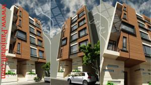 نمای ساختمان، طراحی، 3D، نمای سه بعدی، اجرا، دتایل اجرای نما