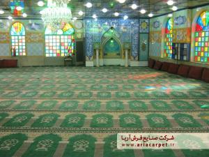 مونتاژ فرش سجاده آریا در تصویر ارسالی مسجد شما