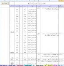 دانلود جدول لیستوفر آرماتوربندی قابل استفاده برای پیمانکاران