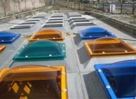 اجرای سقف گنبدی ، سقف حیاط خلوت ، نورگیر پاسیو ، سقف حبابی