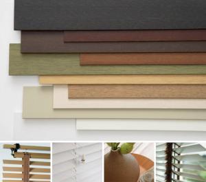 پرده کرکره چوبی2/5 سانت و 5سانت با نوار پهن مدرن