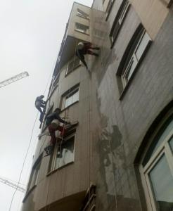 نقاشی نمای ساختمانهای بلند مرتبه پیچ رول پلاک
