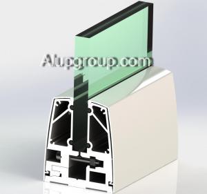 نرده ی شیشه ایی - آلومینیومی (طرح یک)