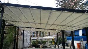 طراحی و اجرای سقف متحرک پارچه ای