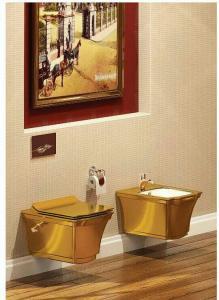 توالت فرنگی وال هنگ طلایی  وارداتی دارای 10 سال گارانتی