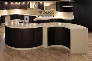شرکت فولکو مجری و طراح حرفه ای کابینت های خم و هلال