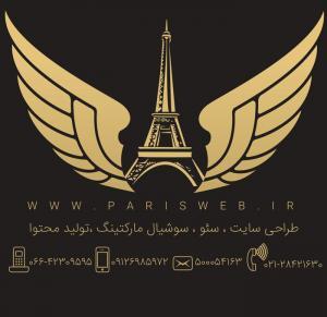 طراحی سایت شرکت پاریس وب