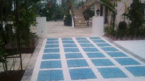 سنگ کف حیاط - ابعاد موزاییک کف - طرح سنگ کف حیاط