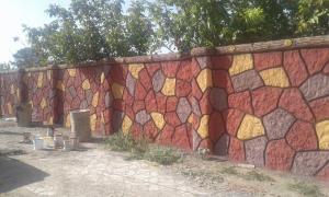زیباسازی باغ وویلا (سیمان بری)