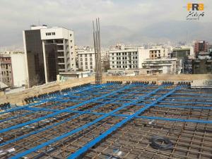 طراحی،تامین مصالح و اجرای سقف پیش تنیده و اسکلت بتنی