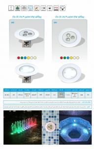 پروژکتور LED استخری تک رنگ