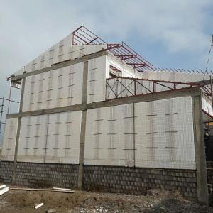 نصب و اجرای دیوارهای پیش ساخته تردی پانل همراه با شاتکریت