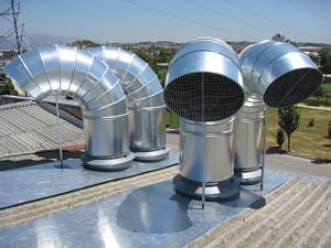 کانال سازی - کانال هوا گرد و چهارگوش-دمپر هوا- کلاهک