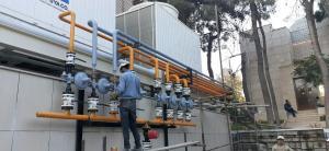 شرکت روان شعله طهران مجری لوله کشی گاز
