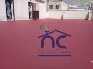 عایق نانو پلیمر پشت بام روی سیمان و موزاییک