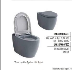 توالت فرنگی بیده دار طوسی خاکستری وارداتی از ترکیه