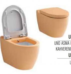 توالت فرنگی وال هنگ بیده دار نارنجی گلبهی