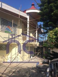 رنگ نانویی روی نما و دیواره ساختمان در مازندران