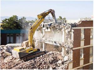 تخریب ساختمان شرکت پیمانکاری پاک