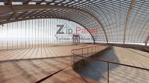 سقف نورگیر زیپ پانل، مدرن ترین سیستم سقف شفاف
