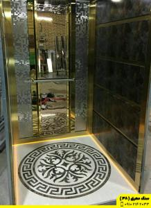 سنگ کف کابین آسانسور