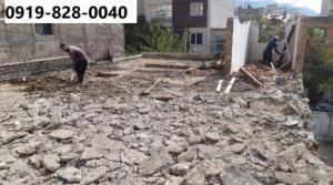 تخریب ساختمان با بیل مکانیکی در استان تهران